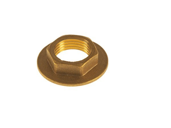 "R021 : 1/2"" WIDE FLANGED BRASS BACKNUT"