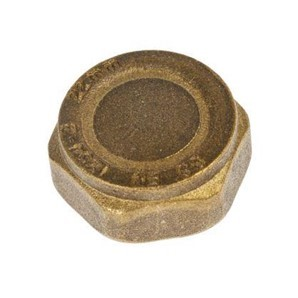 R026 : BRASS CAP  WITH 22MM INTERNAL THREAD