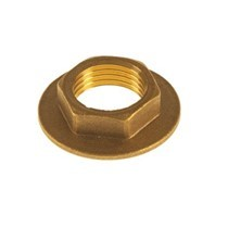 "1/2"" Wide Flanged Brass Backnut"